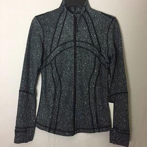 Lululemon Define Jacket Splatter White Black NWT